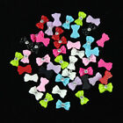 Mix Color Bow Tie Acrylic 3D Rhinestone Nail Art UV Gel Tips Decoration 45pc 0o