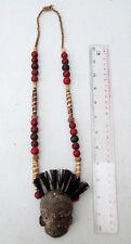 OLD Nagaland Warrior Head Hunter Deer Bone Necklace