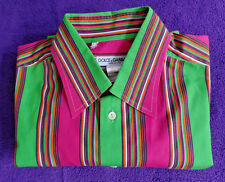 """Dolce & Gabbana Striped Dress Shirt """"Made in ITALY"""" (Size 16.5 / 42) Bright"""