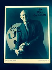 LARRY COKER SIGNED MIAMI HURRICANES 8X10 NCAA FOOTBALL COACH NATIONAL CHAMPION