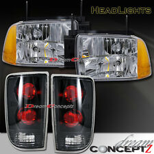 1995 1996 1997 CHEVY BLAZER S10 LT LS HEAD LIGHTS & TAIL LIGHTS BLACK HOUSING