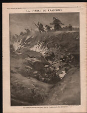WWI Trenches War Guerre Tranchée Poilus Grenades Vosges Etival 1915 ILLUSTRATION