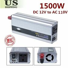 1500w pure sine wave power inverter DC 12V to AC 110V/power tool USA Stock