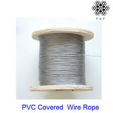 20 Metres of 0.6- 0.8mm PVC Covered 304 Stainless Steel Wire Rope