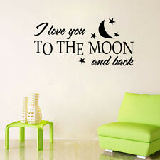 I Love You to the Moon and Back Wall Stickers Decal Children's Bedroom Nursery