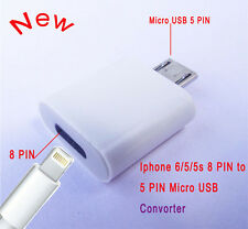 2PC Lightning Female to Micro USB 2.0 Male Adapter Converter Dock for Android