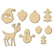 American Crafts Studio Calico Wood Veneer *CHRISTMAS *NAVIDAD *NOEL~18ct ~366322