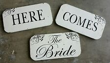 Here Comes the Bride Vintage Wedding Signs