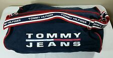 Vtg Tommy Hilfiger Duffle Bag Strap 90s Colorblock Flag Lotus Gym Bag Tote Jeans