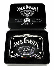 Jack Daniel`s Belt Buckle Old No7 in Collectors Edition Tin Officially Licensed