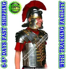 LORICA SEGMENTATA ARMOUR With ROMAN CENTURION HELMET RED PLUME ANCIENT ITEM A+