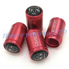 Aluminum Red Matting Car Wheel Tyre Tire Stem Air Valve Cap For Dodge Ram Parts