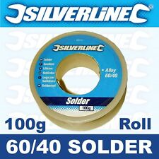 100g Roll Reel Silverline 1mm Tin Lead 60/40 Fluxed Solder Wire PCB Electronics