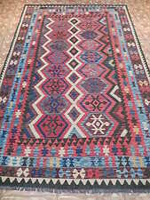 Geoemtric Adorned Decor Carpet Kilim Cheap Hand Woven Wool Rug 7' X 10'