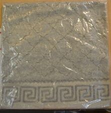 "Pottery Barn Monaque Crewel Embroidered Pillow Cover, 20"" Gray #56"