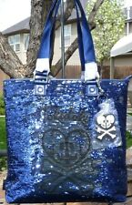 TOKIDOKI SALINAS BLUE SEQUIN LARGE TOTE BAG T21-31107 W/DUSTBAG NWT