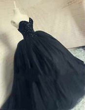 Quinceanera Black Wedding Dress Bridal Gown  Party Pageant Formal Gown Custom