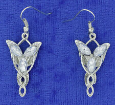 Elf Princess Earrings Elvish Elven Design Silver Color Queen