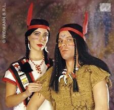 Ladies Black Plaited Wig Red Indian Fancy Dress