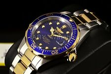 Invicta Pro Diver 18k Gold Plated Stainless Steel Blue Dial 37.5mm 2-Tone Watch