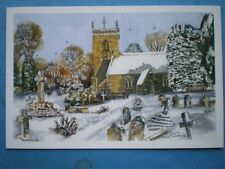 POSTCARD WORCESTERSHIRE NORTON - ST JAMES THE GREAT CHURCH WATERCOLOUR