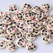 FD958 Cute Panda Button Fit Sewing Scrapbooking Craft 2 Holes Wooden DIY 10PCs Z