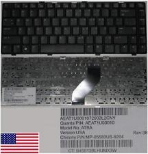 Clavier Qwerty US HP DV6000 DV6100 AT8A MP-05583US-9204 AEAT1U00010 Noir