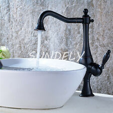 Tall Antique Brass Bathroom faucet & Kitchen Basin Mixer Water Tap Sink Faucet