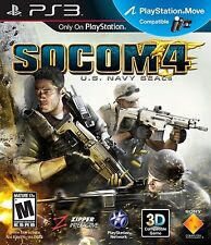 PLAYSTATION 3 PS3 GAME SOCOM 4: U.S. NAY SEALS BRAND NEW & SEALED