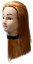 """Styling Manikin Head 19"""" Female Cosmetology Mannequin Blonde Hair Cutting Clamp"""