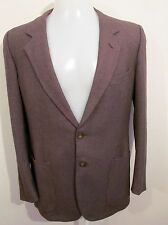 "ERMENEGILDO ZEGNA, Gritti,100% Wool, Brown pattern Jacket, Size L,Chest 42"", vgc"