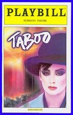 Taboo + Playbill + Raul Esparza , Boy George , Liz McCartney , Euan Morton