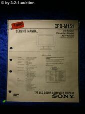 Sony Service Manual CPD M151 Color Computer Display  (#1060)