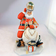 """SANTA CLAUS Norman Rockwell Figurine SPACE AGE SANTA Gorham 7.5"""" tall NEW IN BOX"""
