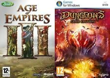 age of empires iii 3 & dungeons gold edition   new&sealed