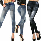 Women Butterfly Printed Sexy Skinny Leggings Jeans Jeggings Stretch Skinny Pants