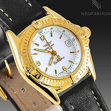 BREITLING CALLISTINO LADIES SOLID 18K YELLOW GOLD WHITE DIAL WOMENS WATCH K52045