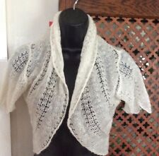 monsoon ivory mohair mix bollero / cardigan, small, new RRP £45