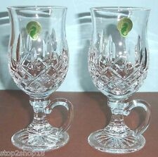 Waterford Lismore Irish Coffee Mugs SET/2 Crystal Glasses #108068 New In Box