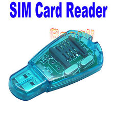 USB SIM Card Reader/Writer/Copy/Cloner/Backup GSM CDMA F Windows XP Vista Win7TW