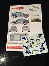 DECALS 1/24 FORD ESCORT THIRY RALLYE RAC 1997 RALLY WRC HASEGAWA BELGIQUE
