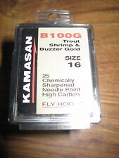 Kamasan Needle Point B100G Grub Hooks 25 Size 16 Gold
