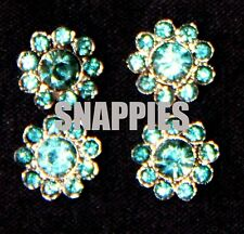 Snappies turquoise crystal magnetic number pins WESTERN COSTUME SHOWMANSHIP HUNT