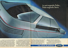 Publicité Advertising 1986 (Double Page)  FORD PROBE III  prototype
