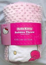 ~ Hello Kitty - HUGE 127cm x 152cm  POLAR FLEECE THROW / BLANKET Bubbles