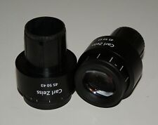 ZEISS W-PL 10X EYEPIECES (PAIR)  45-50-43  (Ex Sales Demonstrator)