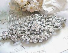 Vintage Wedding Crystal Hair Comb Bridal Tiara Bride Hair Piece Accessories