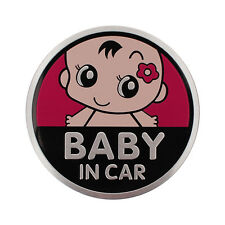 "Aluminium 3D Car Decal Sticker ""Baby in Car"" Window Body Car Auto 3D Sticker"