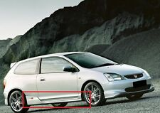 HONDA CIVIC TYPE R LOOK 2001-2005 SIDE SKIRTS NEW !! 2 PCS ( PAIR )