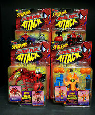 TOY BIZ SPIDER-MAN SNEAK ATTACK WEB FLYERS 4 FIGURE SET CARNAGE HOBGOBLIN D95